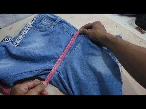 Cara Memendekan Lingkar Pesak Celana Jeans Youtube