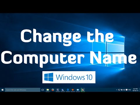 How to rename your computer in windows 10