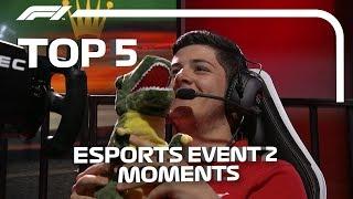 Top 5 Moments | F1 Esports Pro Series 2019 Event 2