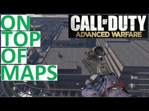 COD ADVANCED WARFARE - GLITCHES!!! ( DETROIT AND RETREAT! ) ON TOP OF MAPS!!!!!