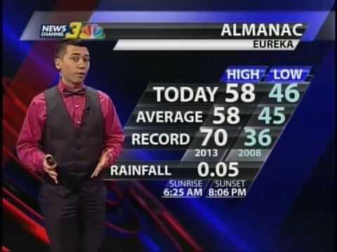 KIEM TV News Channel 3 Full Weather April 24th Meteorologist Torrance  Gaucher