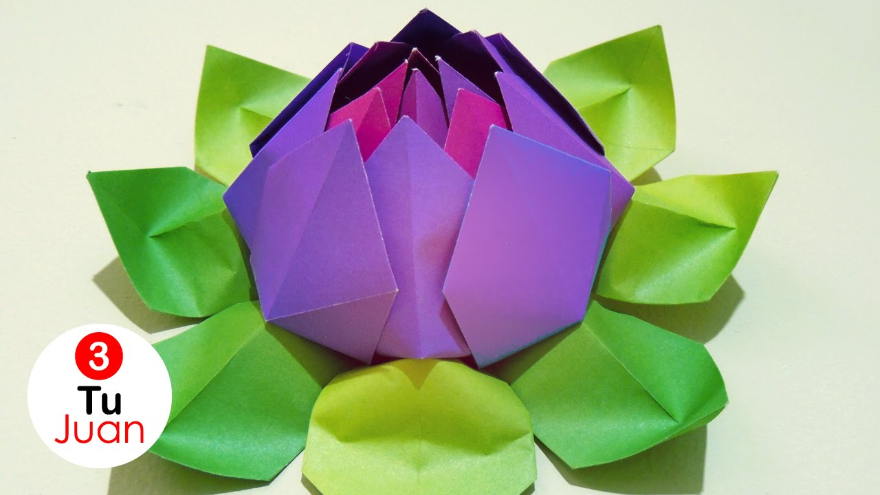 Flores De Papel Loto Origami Diy Youtube