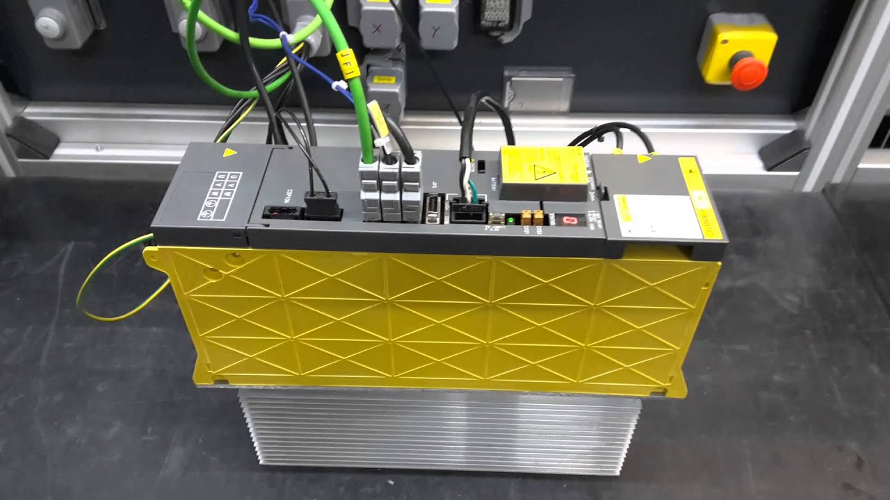 hight resolution of a06b 6096 h106 fanuc servo drive test und reparatur bei inustrypart rh youtube com amk servo