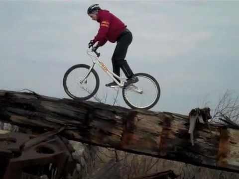 Trevor Bodogh - Extreme Sports Athlete - BikeTrials Training on the broken Canal Island