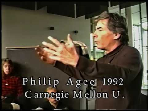 PHIL AGEE  AT CARNEGIE MELLON UNIVERSITY MORNING SESSION