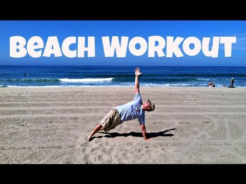 Sweaty Beach Workout in Manhattan Beach, California
