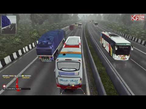 Ets2 bus Indonesia -- Mbak Rossi spesial karoseri Envonext - 동영상