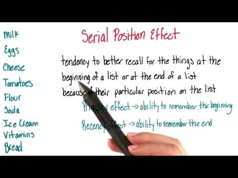 Serial position effect - Intro to Psychology