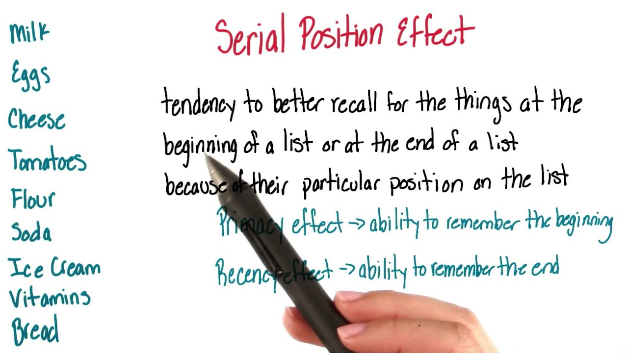 serial position effect definition