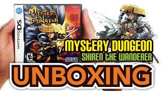Mystery Dungeon: Shiren The Wanderer (DS) Unboxing!!