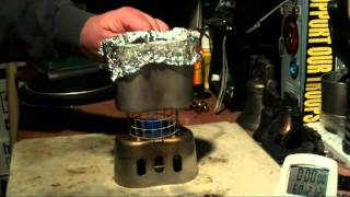 CanteenShop GrillTop Stove Stand - Trangia - Boil Test #5