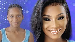 TOTAL TRANSFORMATION On My Lil Sis for her Graduation | HER FIRST WIG! | PETITE-SUE DIVINITII