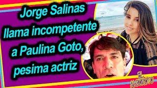 Jorge Salinas en vivo d3sp0trico contra Paulina Goto, por esta polémica razón