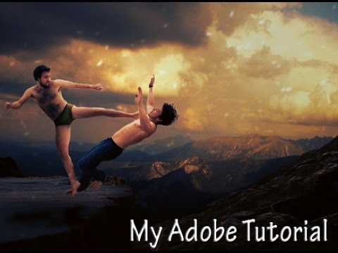 Photo Manipulation Fighting On The Mountain Editing Light Effects My Adobe Tutorial