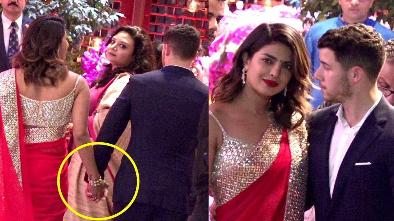 Priyanka Chopra And Nick Jonas Walk Hand In Hand At Akash Ambani And Shloka Mehta Engagement