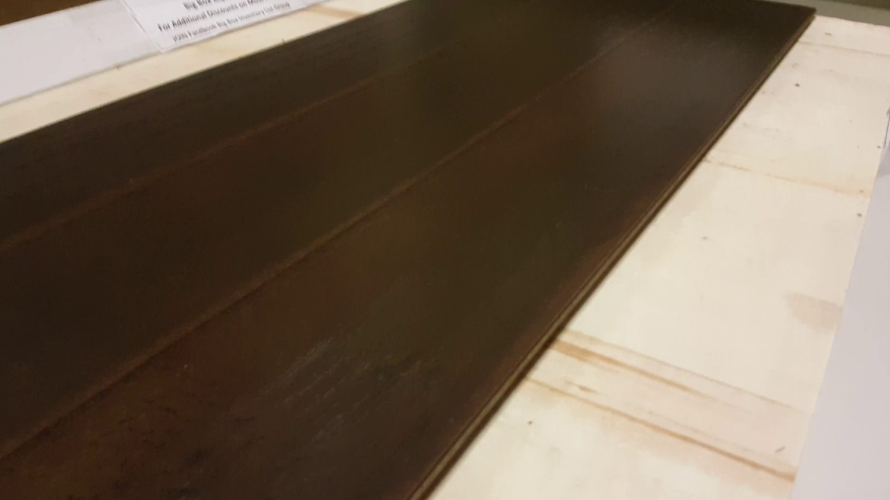 Flooring Midnight Hickory Hdf Hardwood Solid Core 1 2 In Thick Water Resistant Waterproof Locking