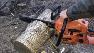 Приспособления для нарезки дров, краткий обзор китайской бензопилы(, 2016-10-25T08:55:44.000Z)