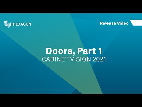 Doors, Part 1 | CABINET VISION 2021