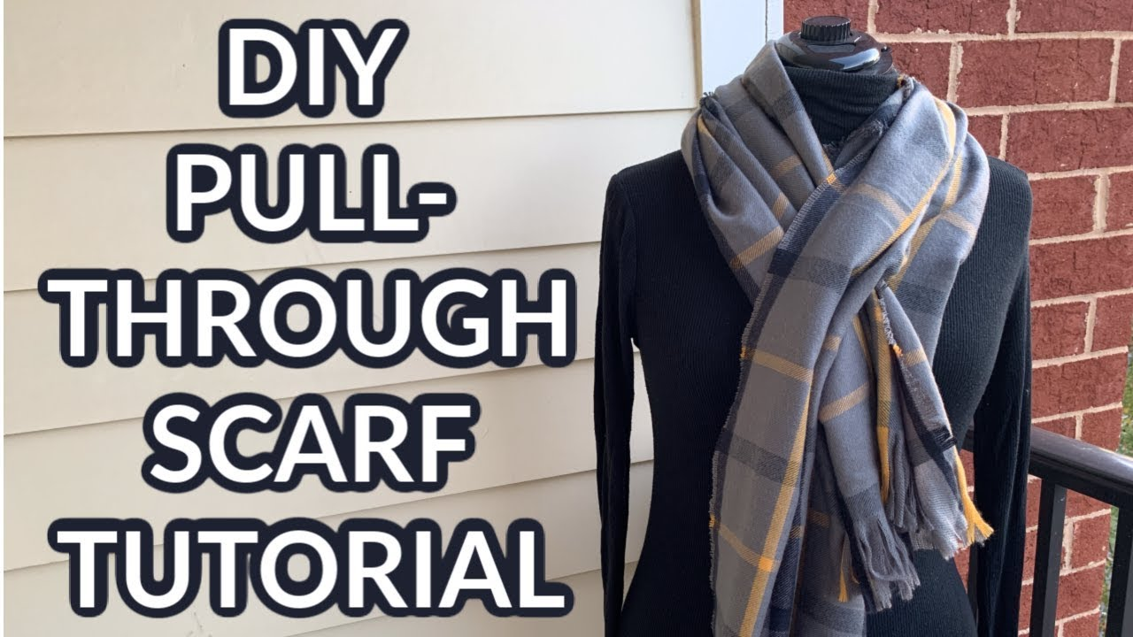 One-Yard Wonder Sewing Tutorial  |  Pull-Through Scarf