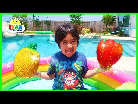 ryan-pretend-play-with-fruits-and-learn-colors-|-educational-video-for-kids!!!