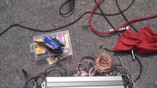 How to hook up your car radio in your house using a battery