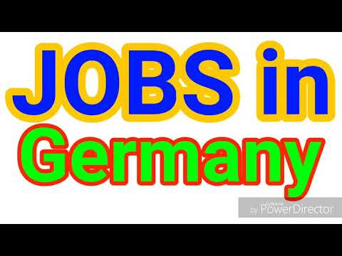 JOBS in GERMANY | All Nationality Can Apply | LATEST JOBS | JOBS TODAY