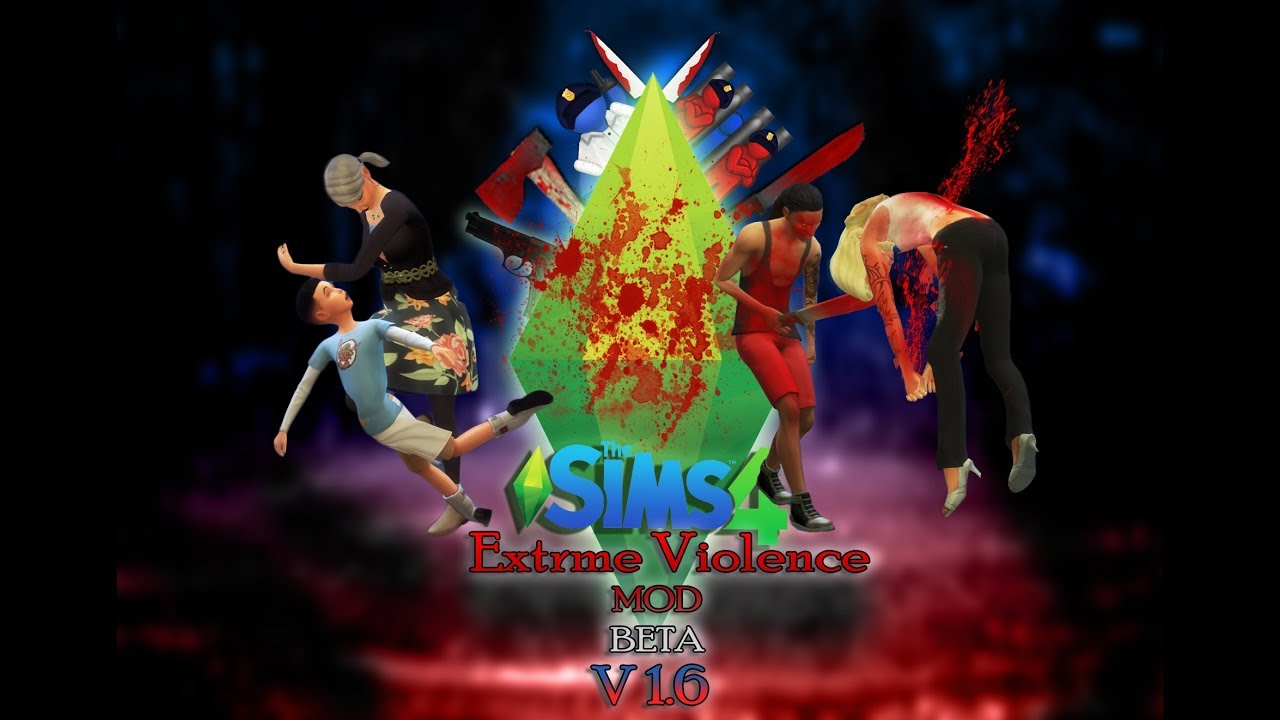 Мод «Чрезмерная жестокость» (Extreme Violence) для The Sims 4 на русском