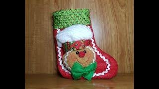 Calcetín / sock NAVIDAD galleta de jengibre. GINGERBREAD SOCK CHRISTMAS / letig99