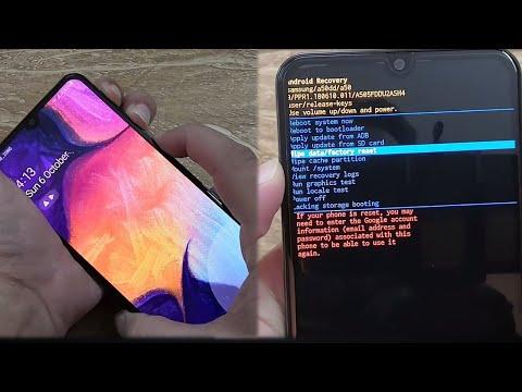 Pattern Unlock, Password Break   Samsung Galaxy A50, A60, A70, A10 Hard Reset