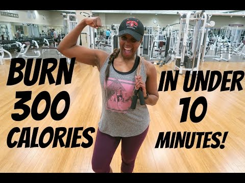 BURN 300 CALORIES IN UNDER 10 MINUTES! | AT HOME, THE GYM OR ANYWHERE ELSE!