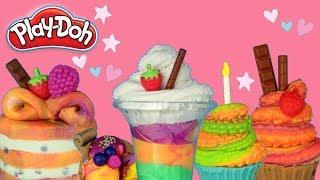 Play Doh • Kolorowe desery • zabawa z Play Doh