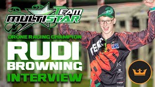 Team Multistar Drone Racing Champion Rudi Browning Interview - Hobbyking Live