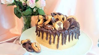 Origrnal Amazing SNICKERS CAKE with Caramel Filling and Ganache Recipe