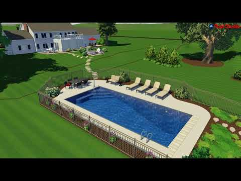 Oconomowcoc, WI Pool Concept Video With Lake View