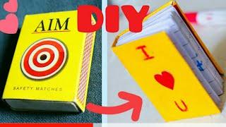DIY mini notebook for crush   Cute mini book for gift