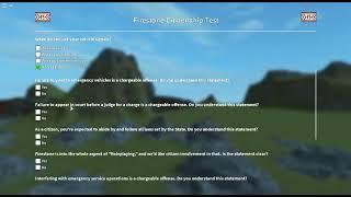 Firestone Citizenship Test Answer - Roblox