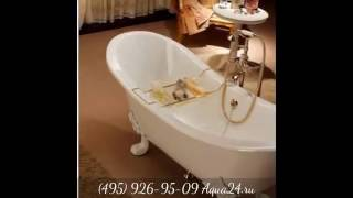 """Обзор отдельностоящих чугунных ванн """"на лапах"""" в стиле ретро"""