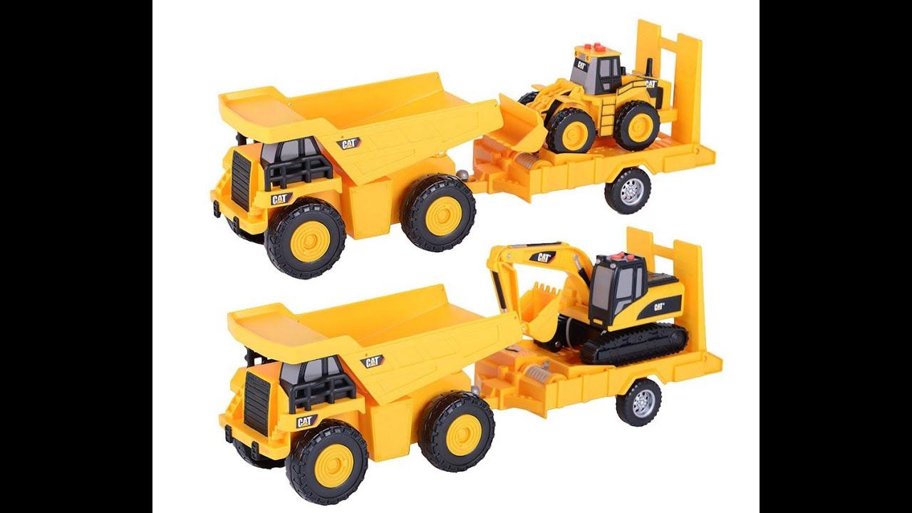 Cat Toy Trucks Set