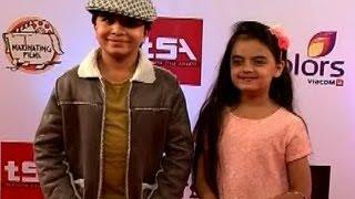 Cute Ruhi (Ruhanika Dhawan) with Shivansh Kotia (Duggu aka Naksh Naitik Singhania)