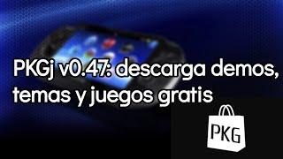PKGj v0.47: Sección de demos y temas, downloader de PS Vita