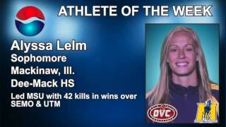 Peps Athlete of the Week - 11/4-11/10 - Alyssa Lelm - Volleyball