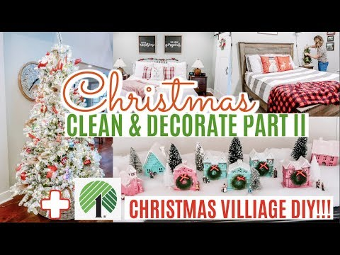 CHRISTMAS CLEAN AND DECORATE WITH ME 2019 // CHRISTMAS  HOUSE TOUR PART 2 Amy Darley