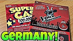 The Voice Germany and Super Cash German Lottery Scratch Off Tickets