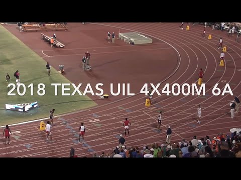2018 Texas UIL State Meet 6A 4x400m Relay