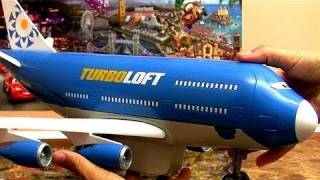 Cars 2 Turbo Loft Plane Everett Jumbo Jet Airplane Transporter Disney Aviões Review By Blucollection