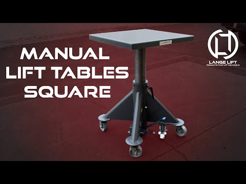 Square Deck Manual Powered Hydraulic Lift Tables | Lange Lift