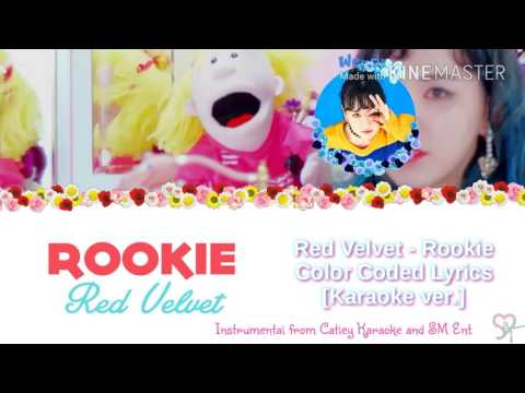 Red Velvet( 레드벨벳 ) - Rookie [Karaoke ver.] Color Coded Lyrics [Instrumental/Kpop]