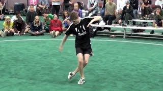 Guy Performs The Most Incredible Footbag/Hacky Sack Routine | Incredible Skills