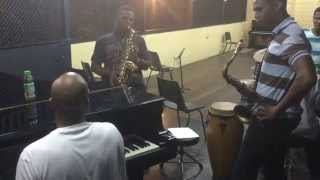 Jazz Jam Sesion @ The  St. Lucia School Of Music West Indies July 2015. (Blue Monk) Tune