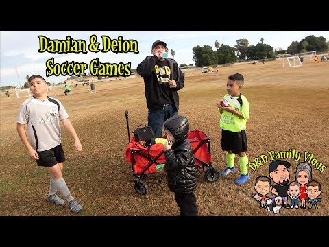 DAMIAN AND DEION'S SOCCER GAMES | DEION'S BIRTHDAY | D&D FAMILY VLOGS
